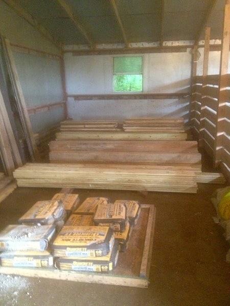 Organized wood pile